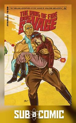 DOC SAVAGE RING OF FIRE #4 COVER A SCHOONOVER (DYNAMITE 2017 1st Print) COMIC
