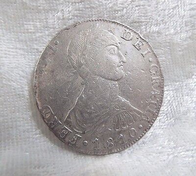 1810 PERU Ferdinand VII 8 Reales Silver Coin Lima, JP VERY FINE