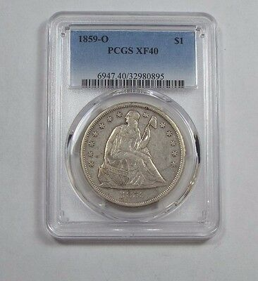 1859-O Liberty Seated Dollar CERTIFIED  PCGS  XF 40 Silver $