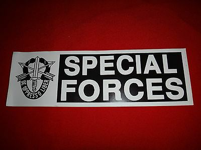 Vietnam War US Army SPECIAL FORCES De-Oppresso Liber Decal Sticker *Never Used*