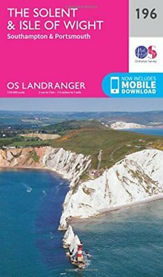 The Solent & the Isle of Wight, Southampton & Portsmouth (OS Landranger Map) New