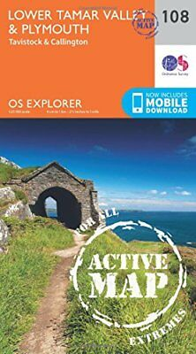 Lower Tamar Valley and Plymouth (OS Explorer Active Map) New Map Book Ordnance S
