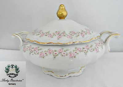 Mitterteich Lady Beatrice Porcelain Vegetable Bowl with Lid