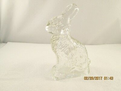 Heavy Pressed Glass Mid-Century Candy Container Beautiful Detailed Bunny