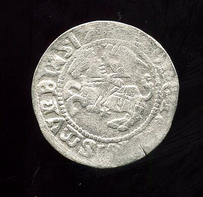 Lithuania ~ 1517 ~ 1 Schilling ~ Silver ~ Vf