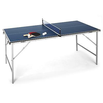 MINI TABLE DE PING PONG PLIABLE KLARFIT 2x RAQUETTE 3x BALLE 1x FILET 73x153CM