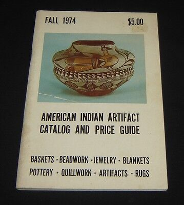 American Indian Artifact Catalog & Price Guide FALL 1974 Baskets RUGS Blankets