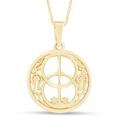 Well Spiritual Gateway 14K Yellow Gold Over Pendant Necklace