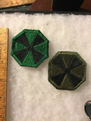 Lot Of 2 1960s 8th Army Patches Cut Edge 1 Asian Made