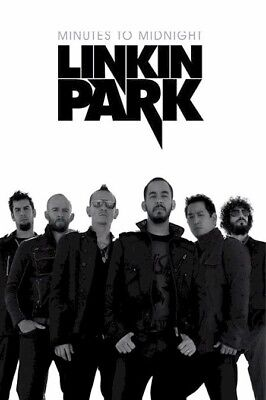 LINKIN PARK ~ MINUTES TO MIDNIGHT 24x36 POSTER Music Rob Bourdon Delson Shinoda