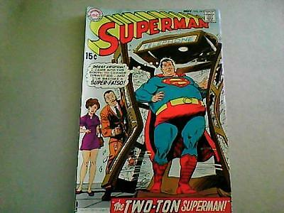 "SUPERMAN  n #221 SILVER AGE - 1969 ""I've become a SUPER-FATSO!"" Bagged/Boareded"