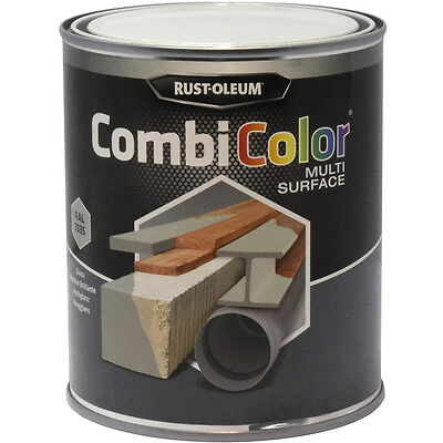 Rust-Oleum CombiColor Multi-Surface Paint Light Grey Gloss 750ml RAL 7035