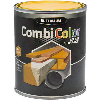 Rust-Oleum CombiColor Multi-Surface Paint Safety Yellow Gloss 750ml RAL 1007