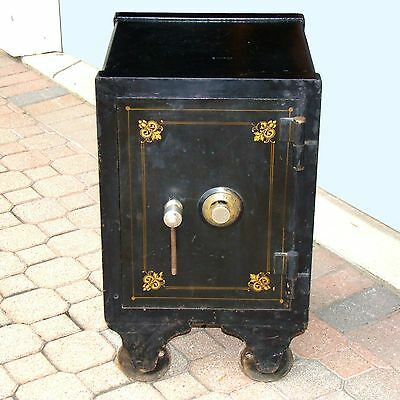 Victorian Era Herring-Hall-Marvin Safe w/Original Stenciling & Combination