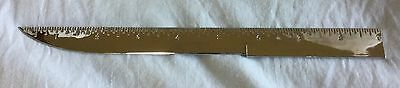 "9"" Metal Combination Ruler & Letter Opener - Made in Japan"