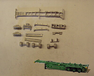 P&D Marsh N Gauge n Scale MV240 40ft Skeletal trailer (1) kit requires painting