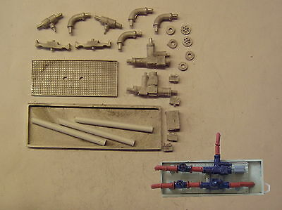 P&D Marsh N Gauge n Scale M35 Large pumps, valves & pipework kit needs painting