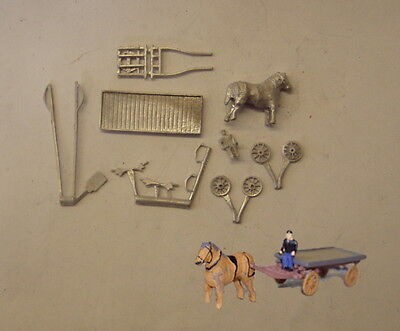 P&D Marsh N Gauge n Scale E201 Horse drawn dray GWR kit requires painting