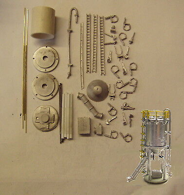 P&D Marsh N Gauge n Scale M41 Additives silo and conveyor kit requires painting