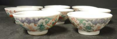 Eight Vintage Chinese Sauce Cups
