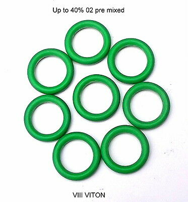 UK MADE! Diving 8x NITROX O rings for APEKS SCUBAPRO MARES ,AQUALUNG 1st stage
