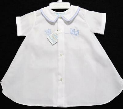 Feltman Brother Newborn Boys White &  Blue Daygown Wembroidered /train~Nwt's