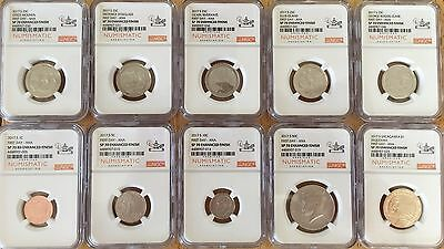 2017 S ENHANCED LINCOLN PENNY NGC SP70 RD FIRST DAY ISSUE ANA MIKE CASTLE SIGNED