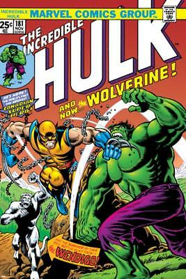 Marvel Comics Retro: The Incredible Hulk Comic Book Cover No.181, with... Poster