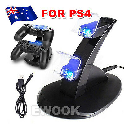 USB Dual Charger Dock Charging Stand cable for Sony PS4 playstation 4 Controller