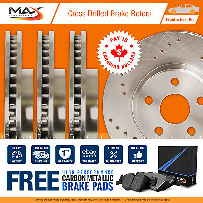 2009 2010 2011 Volvo XC70 (See Desc) Cross Drilled Rotors & Metallic Pads F+R