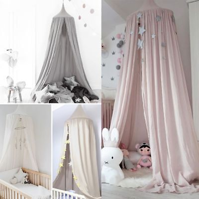 Kids Baby Bed Canopy Bedcover Mosquito Net Curtain Bedding Dome Tent Cotton HOT