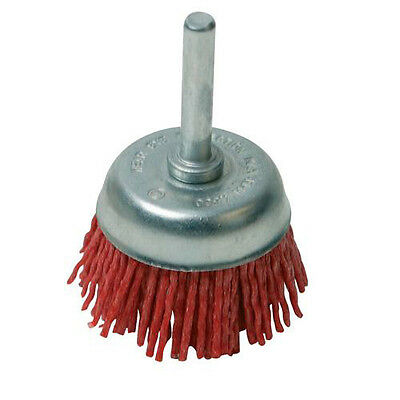 50mm Non-Sparking Filament Cup Brush - Nylon Threads/Abrasive Grit - For Drill