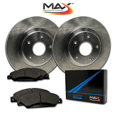 2010 Audi A4 w/320mm Front Rotor Dia OE Replacement Rotors w/Metallic Pads F