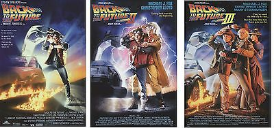 "Back To The Future 1, 2 & 3 Poster Set ""michael J Fox, Christopher Marty Doc"