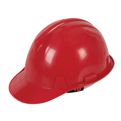 Red Safety Adjustable Hard Hat - Protection, Building Work Site, Builders