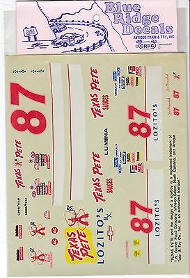 Joe Nemechek Texas Pete Chevy Lumina NASCAR Decals 1/24