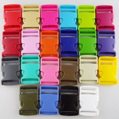 22 COLOUR 30mm Plastic Side Release Clip Buckle Webbing Bag Strap Buy 1 2 4 or 8