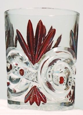 West Virginia Glass No. 213 - Scroll with Cane Band - Tumbler