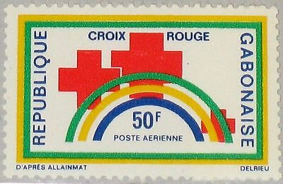 GABON GABUN 1971 442 C116 Red Cross Rotes Kreuz of Gabon Symbolik MNH