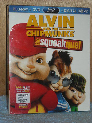 Alvin and the Chipmunks: The Squeakquel (Blu-ray/DVD, 2010, 3-Disc Set, Inclu...