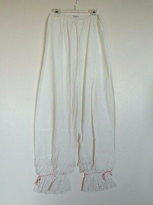 Vintage Donnell's of Denver Long Victorian Bloomers Edged  3 Rows Eyelet Ruffles