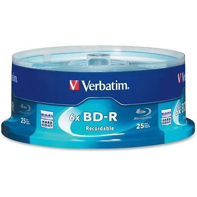 Verbatim BD-R 25GB 6X with Branded Surface - 25pk Spindle Box 97457