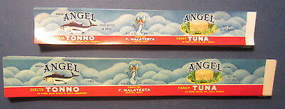Wholesale Lot of 200 Old 1950's - ANGEL Brand -  TUNA CAN LABELS