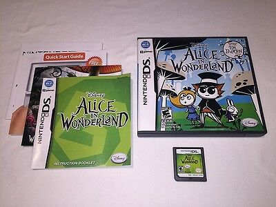 Alice in Wonderland (Nintendo DS) Original Tim Burton Game Complete Nr Mint!