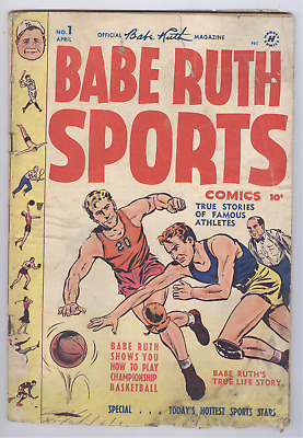 Babe Ruth Sports Comics #1 (1949) FR Harvey Golden Age