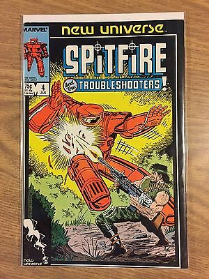 Spitfire and The Troubleshooters #4 VF Range (1986) Marvel Comics