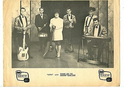 Old Vintage Promo Card Hoppy with Dianne & Country Cavaliers CKKW