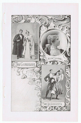 1897 Advertisement - VAUDEVILLE ACTS - The Garrisons, Lillie Laurel, Deforeests