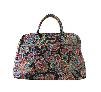 Vera Bradley WEEKENDER CARRY ON PARISIAN PAISLEY Quilted NWT FREE SHIP!!