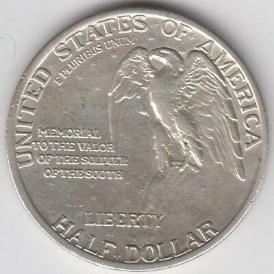 Coin 1925 USA Valor of the Soldier of the silver half dollar in VF condition